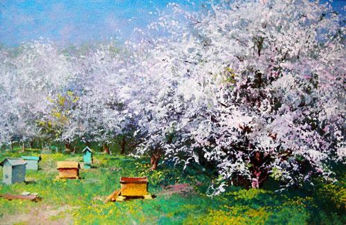 В саду весной